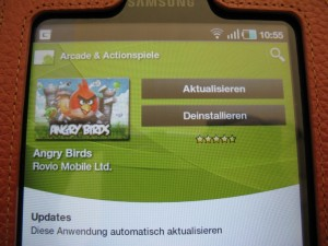 Angry Birds im Android Market